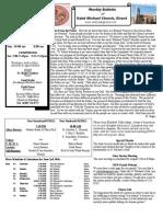St. Michael's June 6, 2012 Bulletin