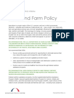 Food and Farm Policy