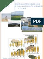 Utilización de recursos renovables como fuentes alternas para