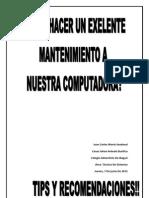 Mantenimiento.pdf; Tips y Recomendaciones
