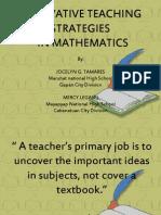 Teaching Strategies in Mathematics