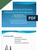 Reconocimiento de Rostros Por Red Neuronal