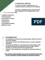 Acoustical Defects