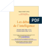 Pierre Janet - Debut de l'Intelligence A