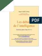 Pierre Janet - Debut de l'Intelligence B