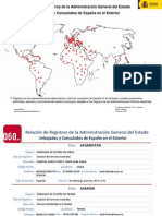 Relacion embajadas y consulados España en exterior