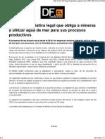 Recurso 2c - Proponen Iniciativa Legal Que Obliga Mineras a Utilizar Agua de Mar Para Sus Procesos Productivos