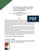 Open Market & Regulation of Media Convergence in Indonesia by Lestari Nurhajati