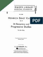 Kayser - 36 Elementary and Progressive Studies Viola Method, Método Viola