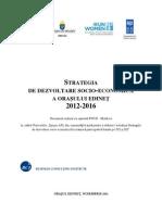 Strategie de dezvoltare socio economică a or. Edineţ