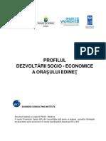 Profilul de dezvoltare socio-economic al oraşului Edineţ