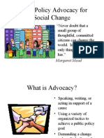 Public Policy Advocacy for Social Change