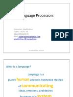 Language Processors Intro