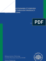 Towards Sustainability-driven Innovation through Product-Service Systems