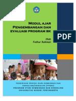 Modul Pengembangan Dan Evaluasi Program BK