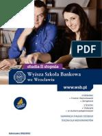 Informator 2012 - Studia II stopnia - Wyższa Szkoła Bankowa we Wrocławiu