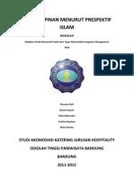 Kepemimpinan Menurut Prespektif Islam Final