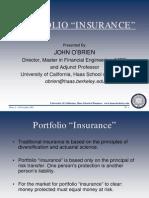 Portfolio Insurance (O'Brien, 2001)