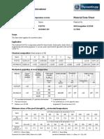10CrMoV9 10 P22 T22 Data Sheet