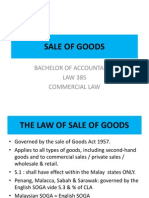 Law 385 - Sale of Goods 2011