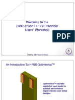 An Introduction to HFSS Optimetrics