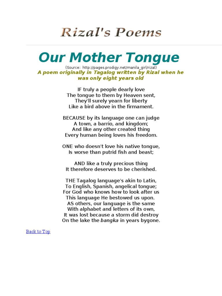 essay about your mother tongue Mother tongue is the initial language one learns as a baby the language one grows up knowing, which is also known as the native language a child first comprehends what is around them through the language they hear their mother communicating in from before they are born and throughout their lives.