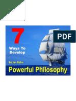 7 Ways to Develop Philosophy