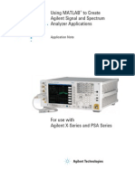 (5989-9377EN) Using MATLAB to Create Agilent Signal and Spectrum Analyzer Applications