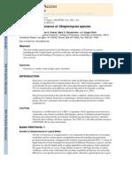 Laboratory Maintenance of Streptomyces Species