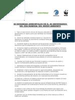 40 Demandas Ecologistas Anti-Crisis