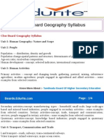 Cbse Board Geography Syllabus