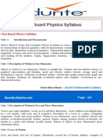 Cbse Board Physics Syllabus