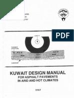 Kuwait Pavement Design Manual