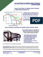 Durco Pressure Leaf Sulfur Filtration