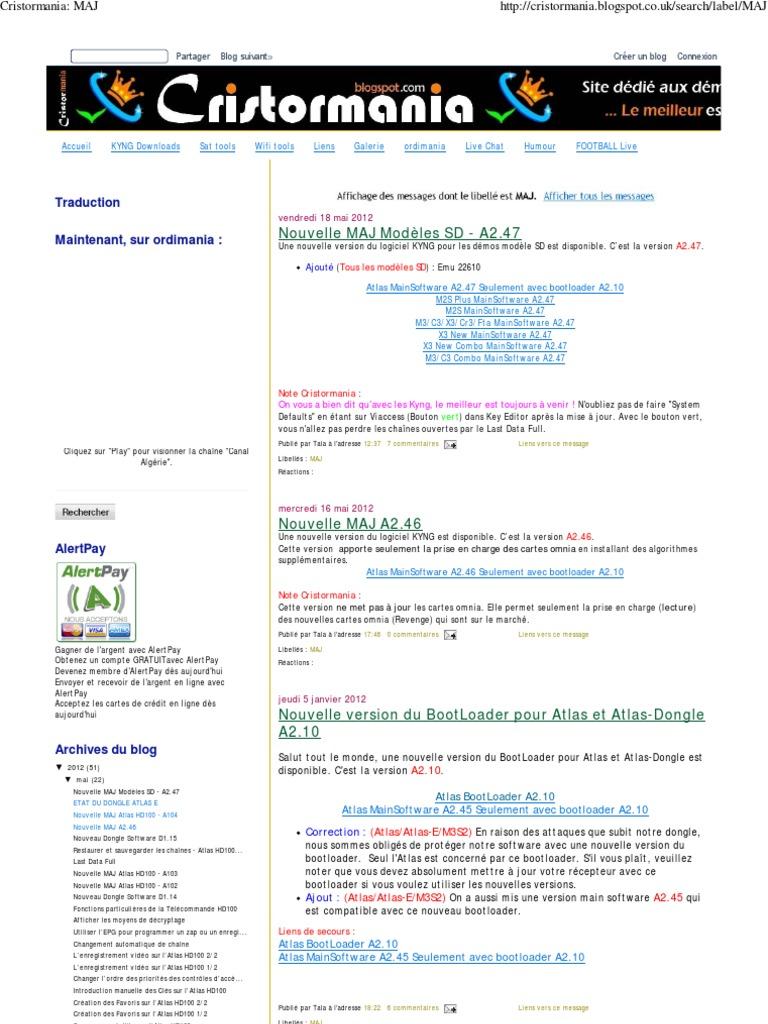 MAINSOFTWARE GRATUIT A2.51 ATLAS TÉLÉCHARGER