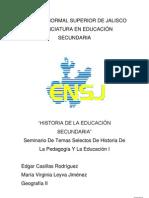 Historia de la educación secundaria