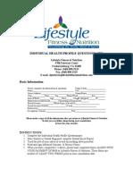 Individual Health Profile