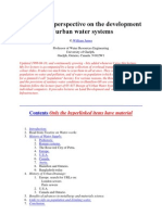 A Historical Perspective on the Development of Urban Water Systems
