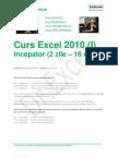 Curs Excel 2010 Incepator