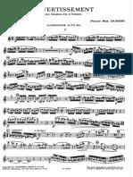 Dubois - Divertissement (With Piano Part)