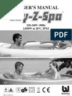 Lay z Spa Premium Platinum User Manual