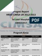 Progres Report Hrdd Cimsa Ur 2012-2013
