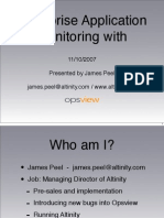 James Peel EnterpriseAppMonitoring