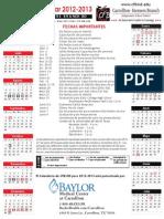 2012-2013 Calendario Espanol