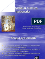 Ortodoxie Si Cultura Nationala