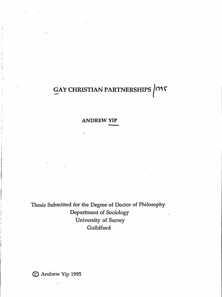 Gonsiorek homosexuality in christianity