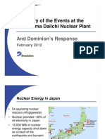 Summary of the Events at the Fukushima Daiichi Nuclear PlantAnd Dominion's ResponseFebruary February 2012