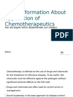 Basic Information About Application of Chemotherapeutics