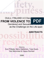 Gendered and Sexualized Violence as the Challenge on the Lifespan
