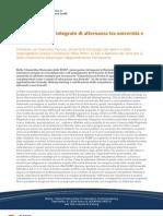 Tanucci - Verso un sistema integrato di alternanza tra università e lavoro